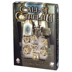 Call of Cthulhu Black & Beige Dice set