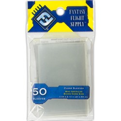 "Protèges cartes ""Mini American Board Game Sleeves"" FFG - Clear"