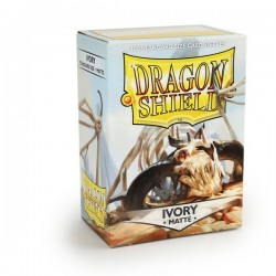 Protèges cartes Dragon Shield - Matte Ivory
