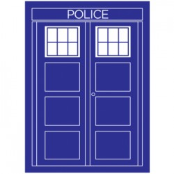 50 Protèges Cartes Legion - Police - Tardis - Dr Who