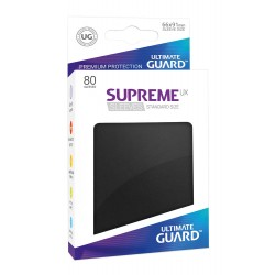 80 Protèges Cartes Supreme UX Sleeves taille standard Noir - Ultimate Guard