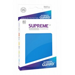 80 Protèges Cartes Supreme UX Sleeves taille standard Bleu Roi - Ultimate Guard