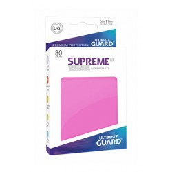 80 Protèges Cartes Supreme UX Sleeves taille standard Rose - Ultimate Guard