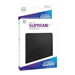 80 Protèges Cartes Supreme UX Sleeves taille standard Noir MAT - Ultimate Guard