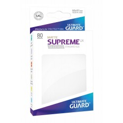 80 Protèges Cartes Supreme UX Sleeves taille standard Blanc Mat - Ultimate Guard