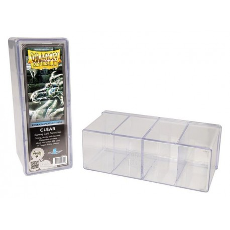 Four Compartment Box Dragon Shield - Clear