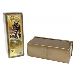 Four Compartment Box Dragon Shield - Gold