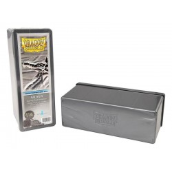 Four Compartment Box Dragon Shield - Silver