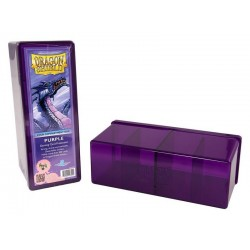 Four Compartment Box Dragon Shield - Purple