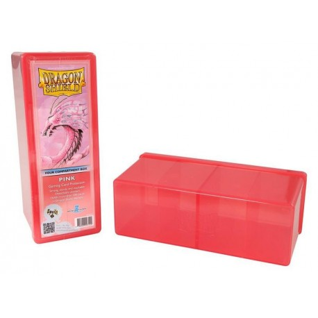 Four Compartment Box Dragon Shield - Pink