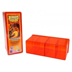 Four Compartment Box Dragon Shield - Orange