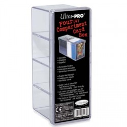 Four Compartment Card Box Ultra Pro - Clear
