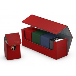 Arkhive Flip Case 400+ taille standard XenoSkin™ Rouge - Ultimate Guard