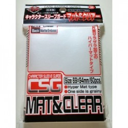 60 SUR Protèges Cartes KMC Character Guard Clear Mat & Clear