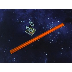 X Wing - Space Fighter Range Ruler Orange