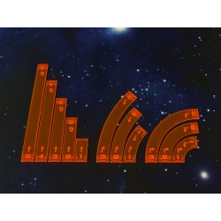 X Wing - Space Fighter Move Templates Orange