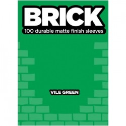 100 Protèges Cartes Mattes Legion - Brick Sleeves - Vile Green