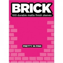 100 Protèges Cartes Mattes Legion - Brick Sleeves - Pretty in Pink