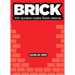 100 Protèges Cartes Mattes Legion - Brick Sleeves - Goblin Red