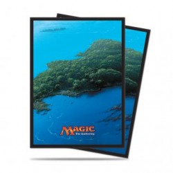 80 Protège-Cartes Magic The Gathering - Mana 5 Island