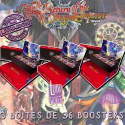 3 Boites de 36 Boosters Force Of Will L3 - Le Retour de l'Empereur Dragon (FR)