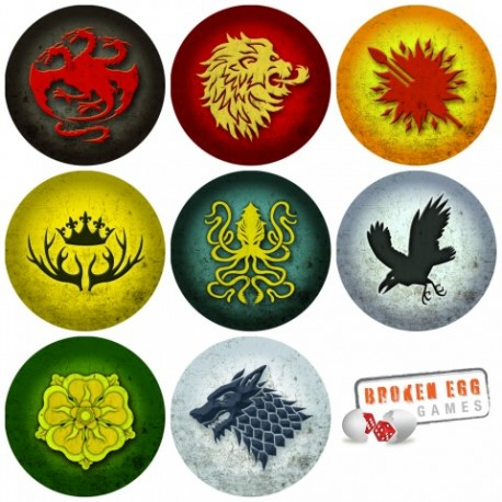 A GAME OF THRONES LCG HOUSE POWER TOKENS