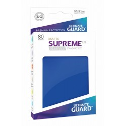 80 Protèges Cartes Supreme UX Sleeves taille standard Bleu Mat - Ultimate Guard