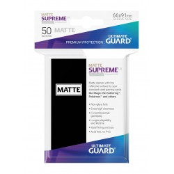 50 Protèges Cartes Supreme UX Matte Sleeves Noir