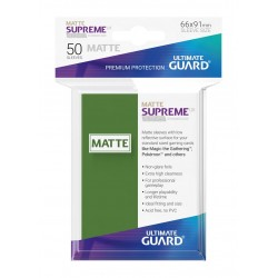 50 Protèges Cartes Supreme UX Matte Sleeves Vert