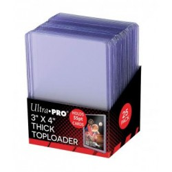 Lot de 25 Toploader Thick Clear Regular Ultra Pro