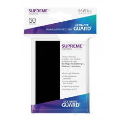 50 Protèges Cartes Supreme UX Sleeves Noir
