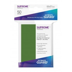 50 Protèges Cartes Supreme UX Sleeves VERT