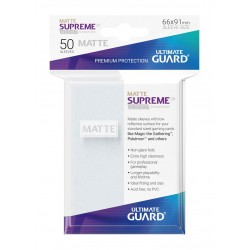 50 Protèges Cartes Supreme UX Sleeves MATTE Frost