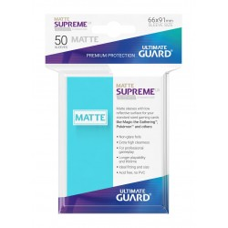 50 Protèges Cartes Supreme UX Sleeves MATTE Aigue-marine