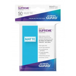 50 Protèges Cartes Supreme UX Sleeves MATTE Bleu Clair