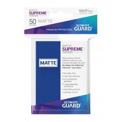 50 Protèges Cartes Supreme UX Sleeves MATTE Bleu