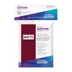 50 Protèges Cartes Supreme UX Sleeves MATTE Bourgogne