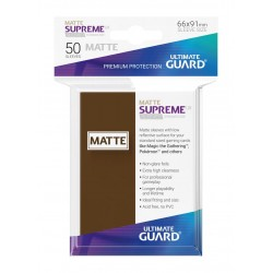50 Protèges Cartes Supreme UX Sleeves MATTE Marron