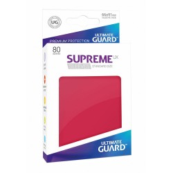 80 Protèges Cartes Supreme UX Sleeves taille standard Rouge - Ultimate Guard