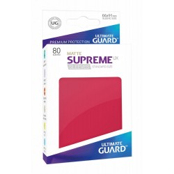 80 Protèges Cartes Supreme UX Sleeves taille standard Rouge Mat - Ultimate Guard