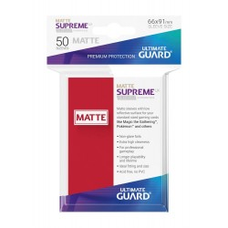 50 Protèges Cartes Supreme UX Sleeves MATTE Rouge