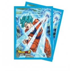 65 Protèges Cartes Dragon Ball Super -Super Saiyan Blue Son Goku- Ultra Pro