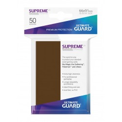 50 Protèges Cartes Supreme UX Sleeves Marron