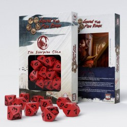 Legend of 5 Rings dice set: Scorpion Clan