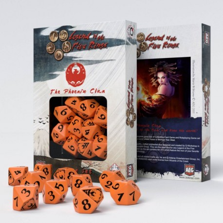Legend of 5 Rings dice set: Phoenix Clan