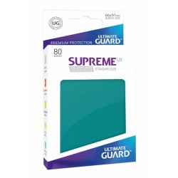 80 Protèges Cartes Supreme UX Sleeves taille standard Bleu Pétrole - Ultimate Guard