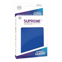 80 Protèges Cartes Supreme UX Sleeves taille standard Bleu - Ultimate Guard