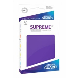 80 Protèges Cartes Supreme UX Sleeves taille standard Violet - Ultimate Guard