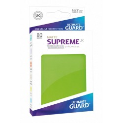80 Protèges Cartes Supreme UX Sleeves taille standard Vert Clair - Ultimate Guard