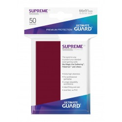 50 Protèges Cartes Supreme UX Sleeves Bourgogne